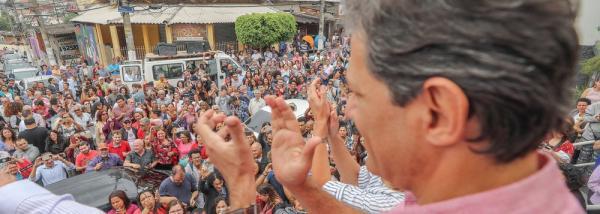 HADDAD: ME ESTRANHA QUEM LUTOU PELA DEMOCRACIA FICAR NEUTRO AGORA