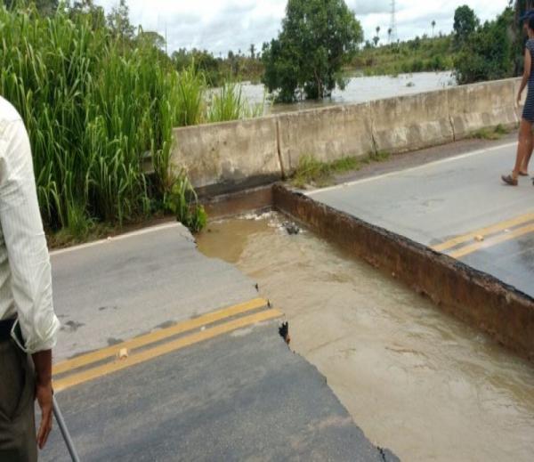 Rompimento de ponte sobre Rio Itacaiúnas interrompe tráfego no Km 55 da PA-279