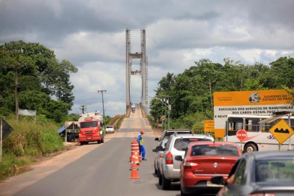 Ponte da Alça Viária recebe manutenção no Rio Guamá