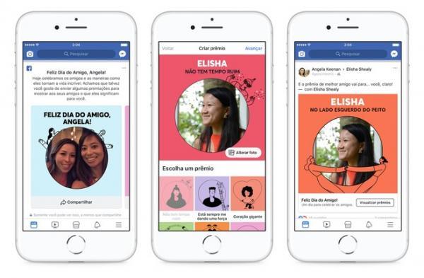 Facebook lança recursos para celebrar o Dia do Amigo