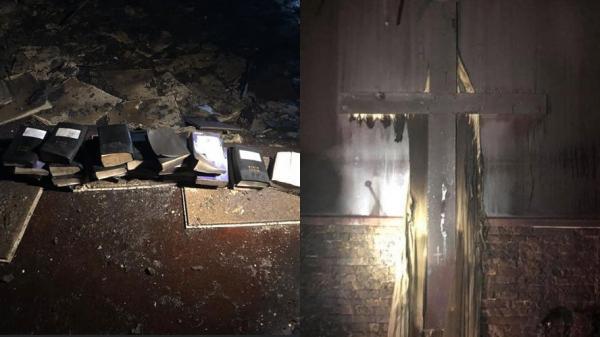 Incêndio destrói igreja, mas bíblias e crucifixos ficam intactos