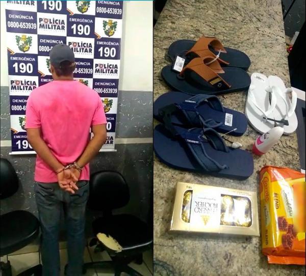 Homem foi preso na quinta-feira (8), em Barra do Garças — Foto: Polícia Militar/Divulgação