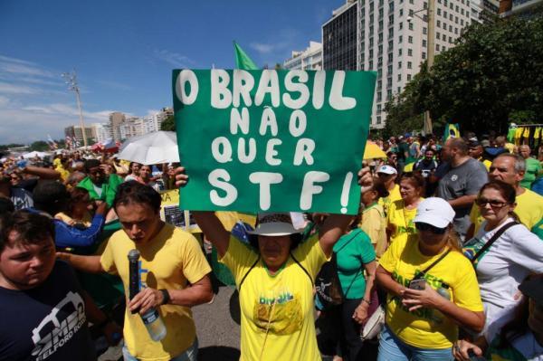 """Gilmar Mendes: Atos neste domingo contra o STF são """"impulsionados por robôs"""""""