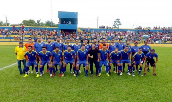 Seleção de Rio Maria que venceu Xinguara por 1 x 0 com gol de Naldinho no domingo 17