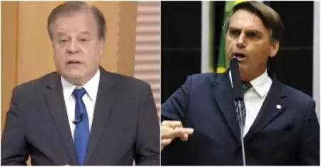 Crédito: Reprodução/TV Globo e Agência Brasil Chico Pinheiro detona Bolsonaro ao vivo na Globo e web se manifesta