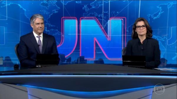 William Bonner e Renata Vasconcellos no Jornal Nacional – (Foto: Reprodução)