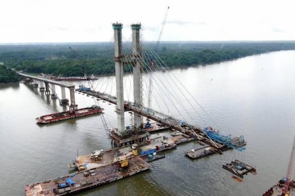 Setran instala penúltimo par de estruturas de concreto na Ponte Rio Moju