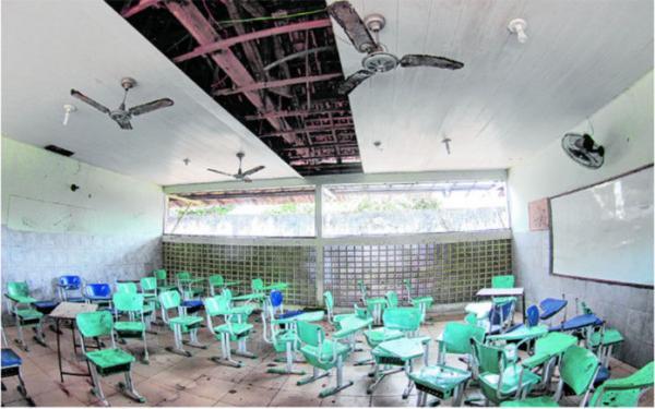Escolas sucateadas são exemplos de como a educação foi tratada na gestão passada.   Ricardo Amanajás/Diário do Pará