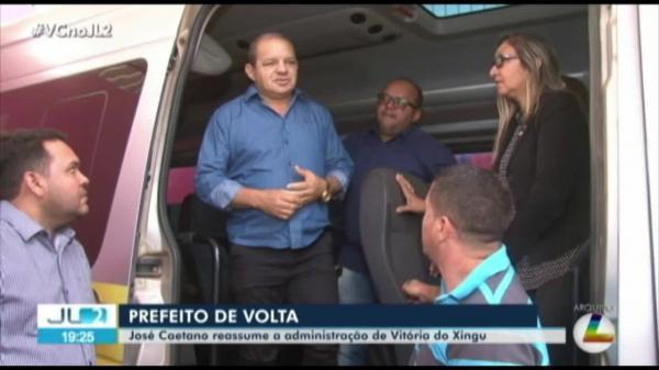 Prefeito de Vitória do Xingu, José Caetano (PSB) volta ao cargo após ter sido afastado por denúncias do MP