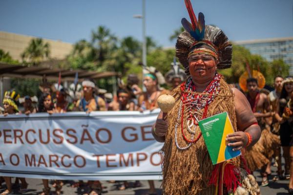 Povos Tupinambá e Pataxó marcharam para pedir a demarcação de terras indígenas / Crédito: Tiago Miotto / Cimi