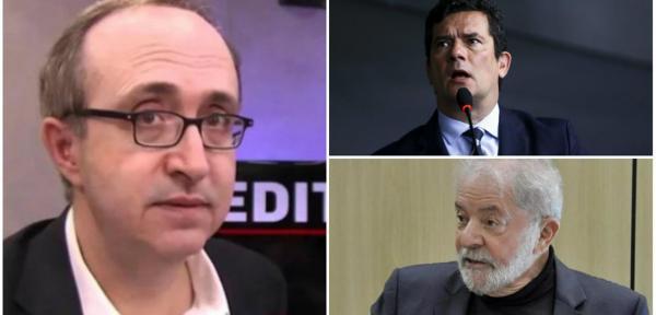 Jornalista analisa o caso da Lei de Segurança Nacional envolvendo Sérgio Moro e Lula (Foto: Dir.: em cima (ABR) / embaixo (Felipe Gonçalves-247))