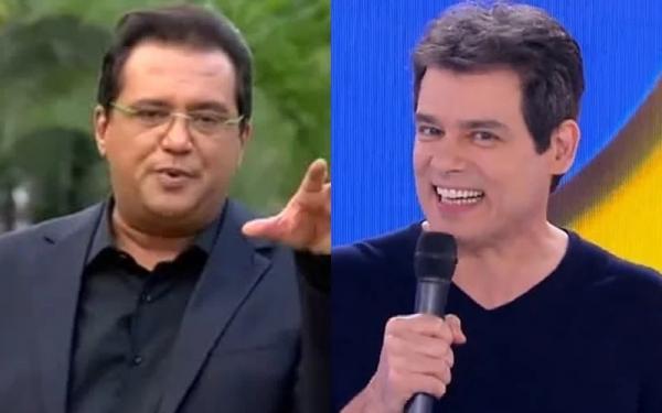 Geraldo Luís e Celso Portiolli são concorrentes (Foto: Reprodução)