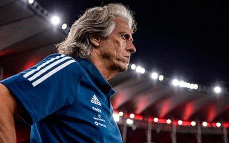 O técnico Jorge Jesus no comando do Flamengo (Foto: Marcelo Cortes / Flamengo) Foto: Lance!