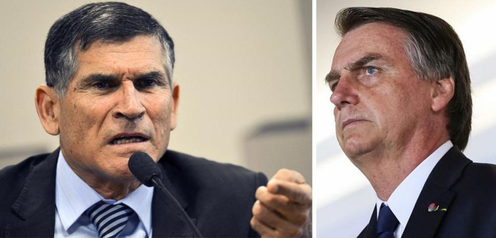 General Santos Cruz e Jair Bolsonaro (Foto: ABr   Reuters)