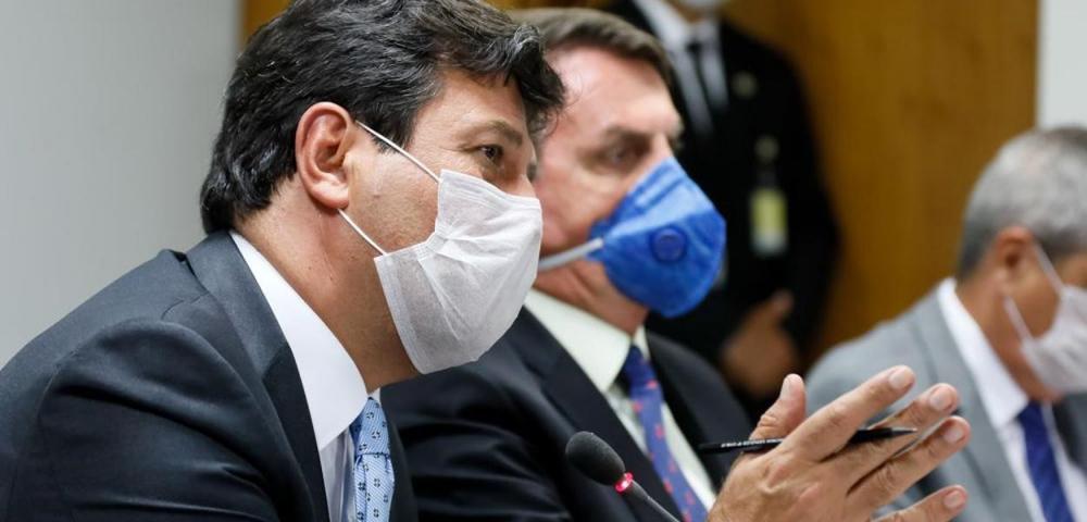 Jair Bolsonaro e Luiz Henrique Mandetta (Foto: Isac Nobrega/PR)
