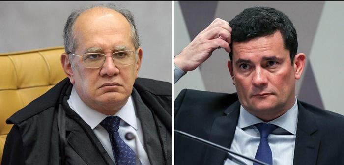 Gilmar Mendes e Sergio Moro (Foto: STF | Senado)