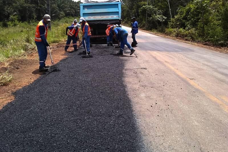 A-287: serviços de conservação do pavimento asfáltico/Foto: Ascom – Setran
