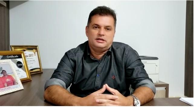 Foto: Reprodução. Secretário de Saúde de Tucumã, Rapahel Antônio.