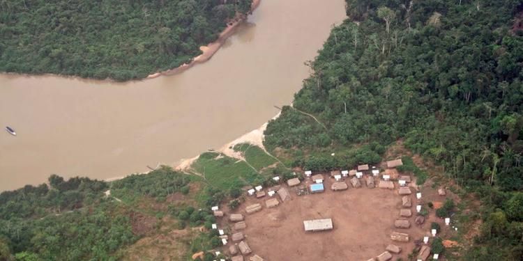 Vista aérea de terra indígena (Ascom MPF)