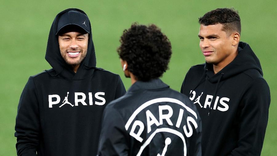 Neymar e Thiago Silva viraram grandes amigos no PSGImagem: Mark Robinson/Getty Images