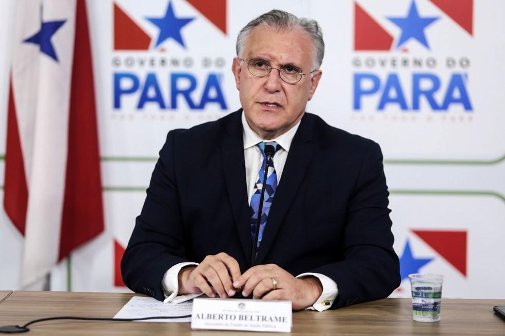 Secretário de Saúde do Pará 2020 Alberto Beltrame — Foto: Bruno Cecim/Agência Pará