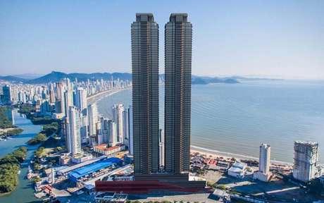 Foto externa do residencial mais alto da América do Sul (Foto: Divulgação) Foto: LANCE!