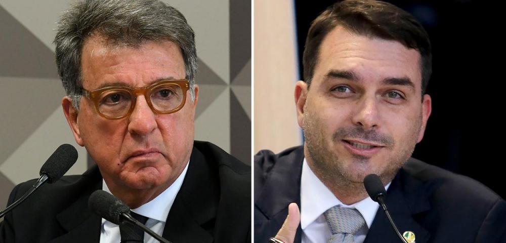 Empresário Paulo Marinho e Flávio Bolsonaro. Imagem: Brasil 247