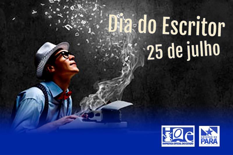 Banner alusivo ao Dia Nacional do Escritor celebra a data no site da Ioepa que também divulgará a literatura paraense. Foto: Divulgação