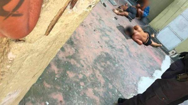 Assaltantes perseguidos por PM pulam de 5º andar de prédio
