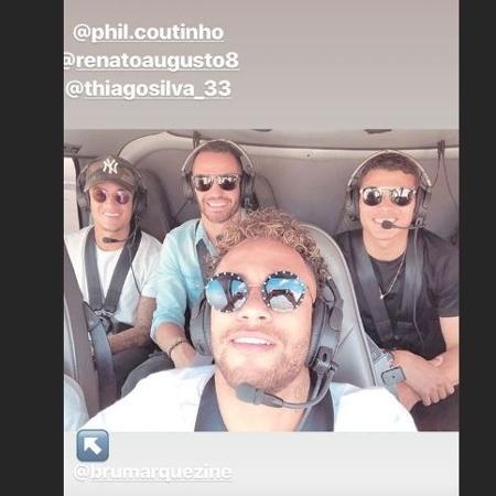 Combustível garantido! Neymar sobrevoa o Rio de Janeiro de helicóptero