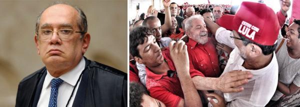 GILMAR VÊ ENIGMA FALSO EM LULA: ELE É UM PRESO POLÍTICO