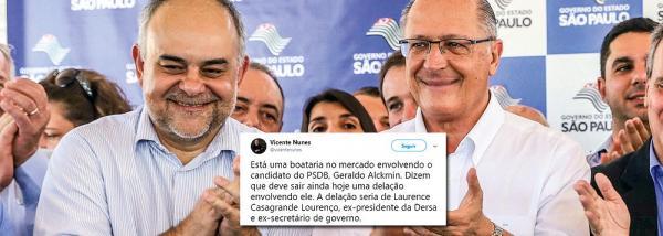 EX-CHEFE DA DERSA ESTARIA FAZENDO DELAÇÃO PREMIADA CONTRA ALCKMI
