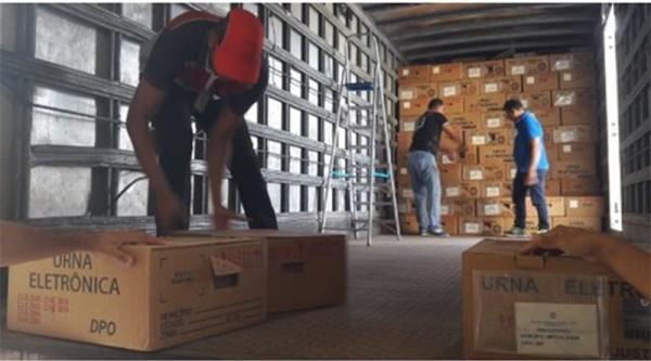 TRE inicia o transporte de urnas eletrônicas