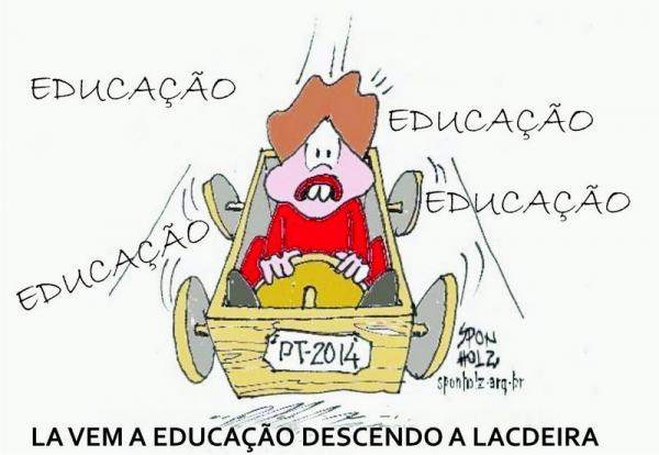 Educação no Brasil vai de ladeira abaixo